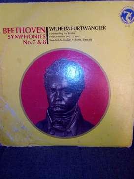 Vendó Disco de vinilo Bethoven Symphonies 7y8.