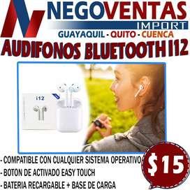 AUDIFONOS BLUETOOTH i12 EN DESCUENTO EXCLUSIVO DE NEGOVENTAS