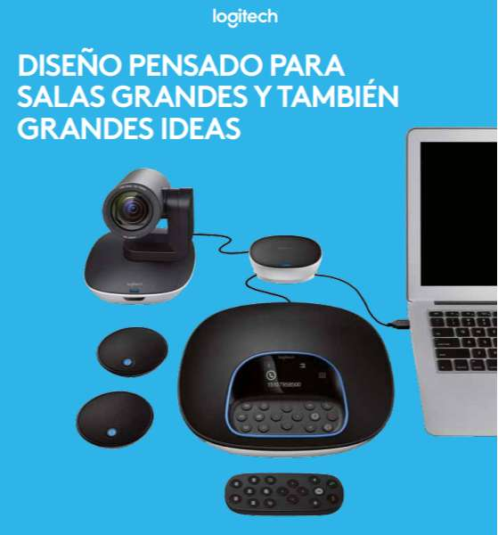 CAMARA VIDEOCONFERENCIA LOGITECH GROUP/25 PERS/USB/BLUET/CONT REMOTO/90 0