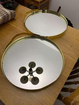 Espejos de 40x40cms, marco en lámina, el valor es por cada uno