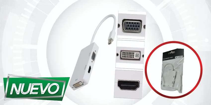 MINI DISPLAY TUNDERBOLT  3en1 HDMI-VGA-DVI ¡DOMICILIO GRATIS BAJO COSTO!