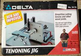 NUEVA DELTA 34-183 TENONING JIG & INSTRUCTION MANUAL TABLE SAW WOODWORKING