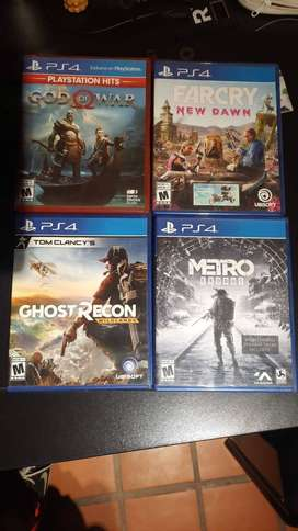 metro exodus, wolfestein youngblood deluxe edition, ghost recond, god of war, far cry new dawn