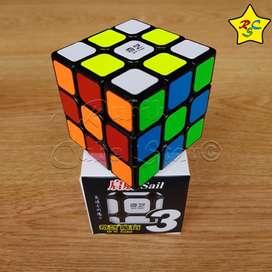 Cubo Rubik Qiyi Sail 3x3 Original Speed Cube Negro