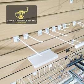 Ganchos 20cm Pack 50 Unidades Para Rapiwall, Panel Ranurado