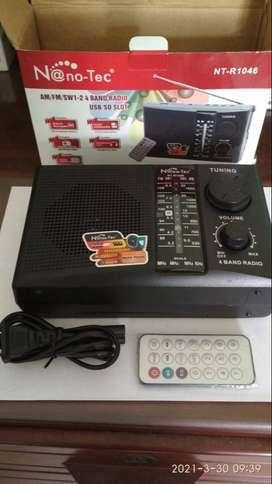 Radio Am/fm Usb Mp3 A Pilas Y A 110/220v