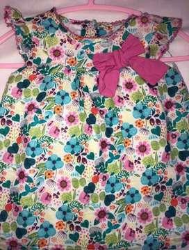 Vendo vestido bebe niña 0-12 meses