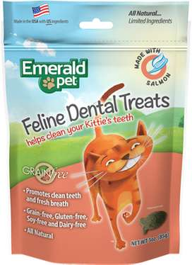 Snacks para Gatos cuidan los dientes Emerald Pet Cat Snack Dental