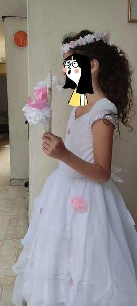 Vestido primera comunión para niña entre 9 y 11 años