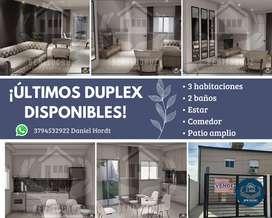 ULTIMO DUPLEX DISPONIBLE. 3 DORMITORIOS