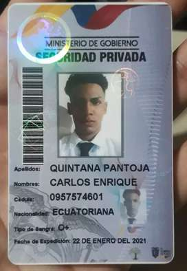 Busco trabajo de guardia de seguridad privada