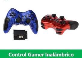 Control Gamer Inalambrico 6 En 1 Pc / Ps2 / Ps3
