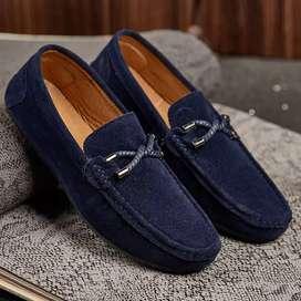 Zapatos Elegantes En Gamuza Con Ebilla Para Hombre