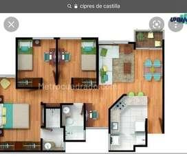 apartamento totalmente terminado, enchapado en cocina, baños, con pisos porcelanato y laminado, con estudio, parqueadero