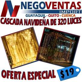 CASCADA NAVIDEÑA DE 320 LEDS EXTENSION DE 2.50X3.00 MTS EN OFERTA