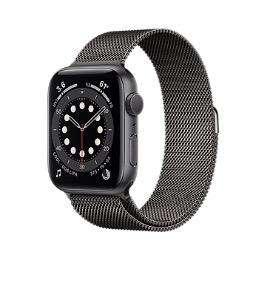 Nuevo Apple Watch Series 6 44mm Space Gray con correa Milanesa Negra