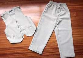 Conjunto pantalon y chaleco niño