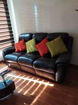 Sofa en cuero sillas reclinables