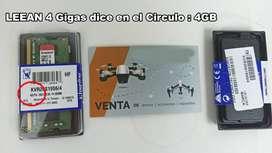Ram ddr4 DE 4gb Kingston 2666 Mhz SODIMM Memoria Ram Portatil