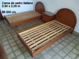 Camas cedro italiano usadas de plaza y media c/u 6000