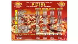 Necesito pizzero que prepare masa y pasta con experiencia