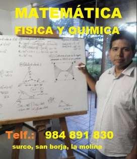 clases de matematicas, fisica y quimica a domicilio