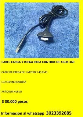 CABLE CARGA Y JUEGA PARA CONTROL DE XBOX 360