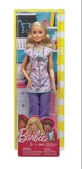 Muñeca Barbie Medica Enfermera Doctora 30 cm Original Mattel