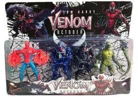 Muñecos Venom X4 Articulados 18 cm con luz