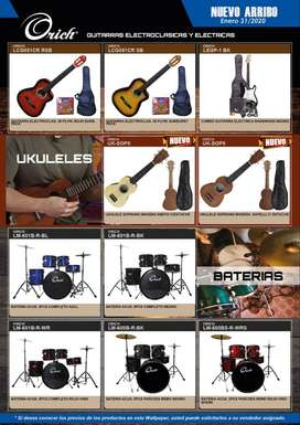 Guitarras ukelele baterías y mas