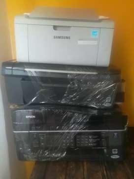 Combo de impresoras (láser - inyección)