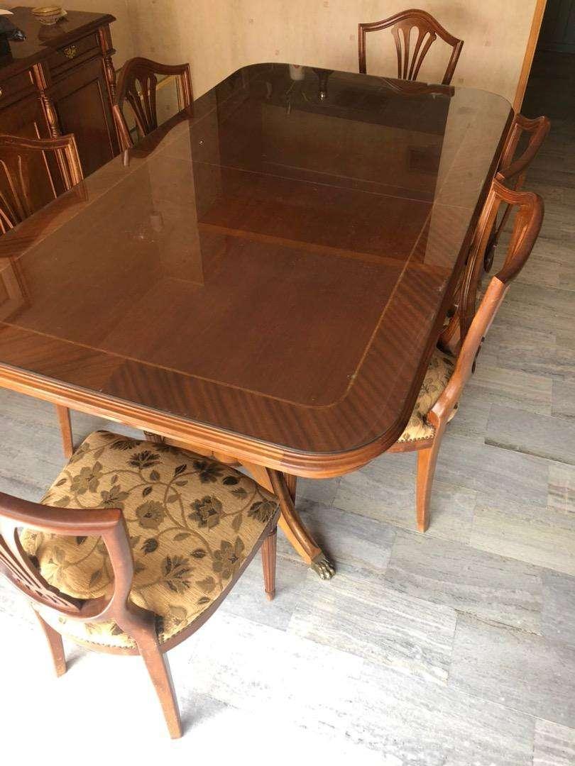Mesa extensible + 6 sillas 0