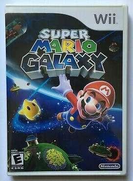Juego Super Mario Galaxy Y Moneda de Lanzamien