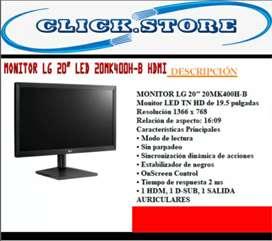 Monitor LG LED 20MK400-B HDMI