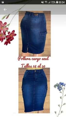 Polleras de jeans nacionales