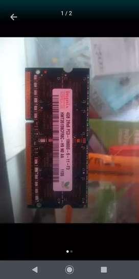 Memoria ram 4gb ddr3 Portátil