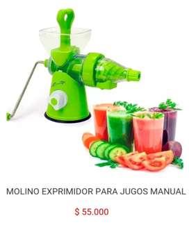 Exprimidor manual de frutas para jugos tipo forma de molino
