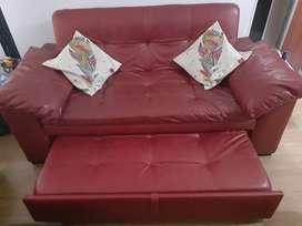 Sofá cama Rojo, 140x190