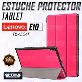 Estuche Case Forro Protector Con Tapa Tablet Lenovo Tab E10 Tb-x104F