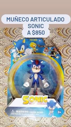 Muñeco articulado. Sonic. A $850!