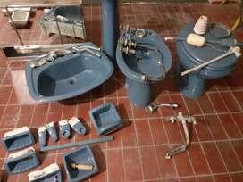 Juego baño Ferrum color azul usado