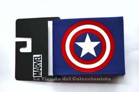 Billetera Capitán América Escudo Uniforme Cartera Importada