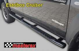 Estribos importados Cruiser para Dmax, Hilux, Ranger, BT50.  Elegantes, Funcionales y Fuertes.
