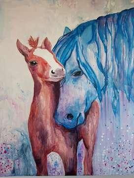 Pintura Moderna Horse Love