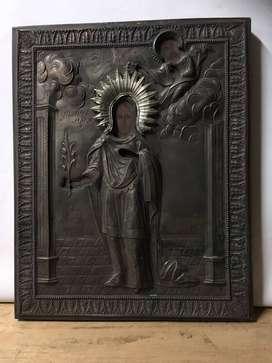 Imagen religiosa en metal