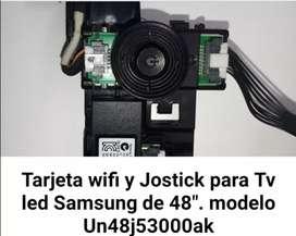Tarjeta wifi y jostick para Tv LED Samsung modelo Un48j53000aK