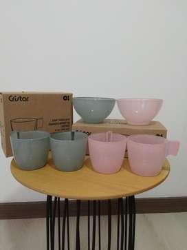 Kit 4 Mug Y 2 Bowl
