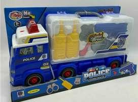 Carro de policía bomberos y rescate