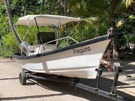 Panga 21 pies, consola central, motor 75 HP Mariner.