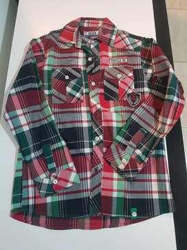 Liquido camisa cuadrille niño